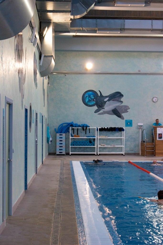 Установка фонового звука в бассейне